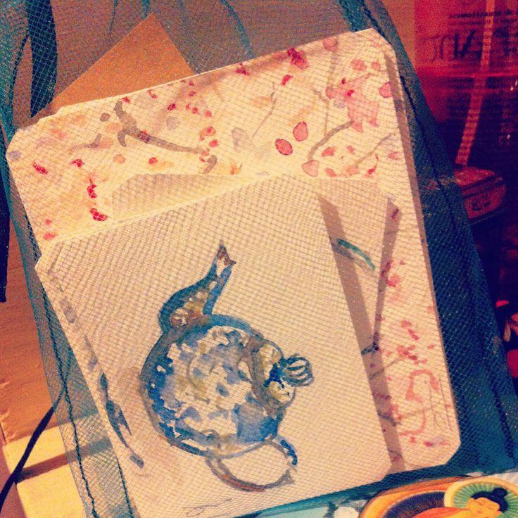 Las acuarelas exclusivas que la artista visual Melba San Martín creo para Flor de te