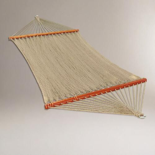 One of my favorite discoveries at WorldMarket.com: Natural 2 Person 12' Caribbean Hammock