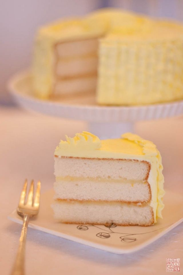Triple Vanilla Cake with Meyer Lemon Buttercream