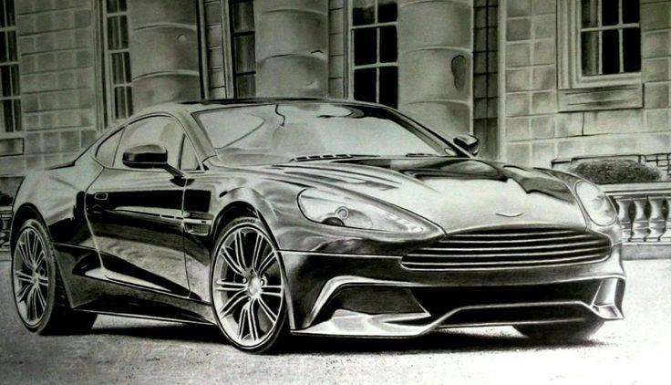 Aston Martin Vanquish-graphite drawing