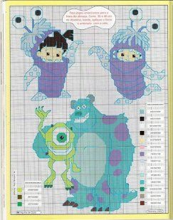 #Monsters Inc. stitch patterns                                                                                                                                                                                 Más