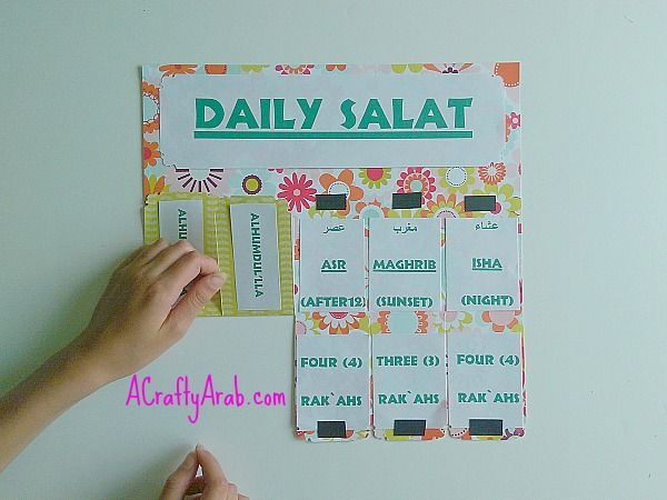 Islamic Daily Salat (Prayer) Chart Tutorial | Multicultural Kid Blogs