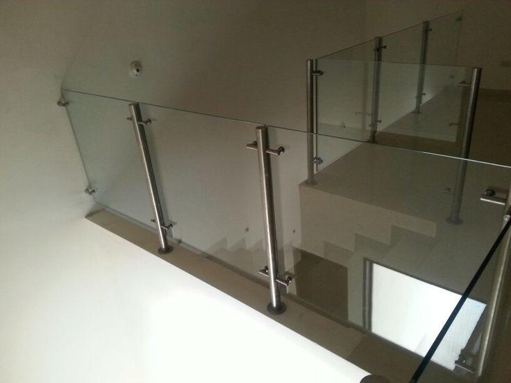 Barandal de cristal escaleras pinterest - Pasamanos de cristal ...