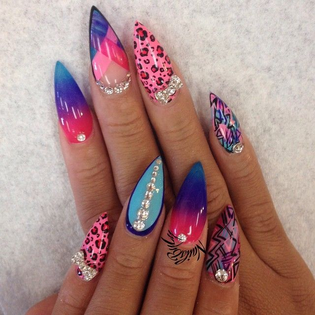 Colorful Nail Art: 245 Best Images About Ugly Nails On Pinterest