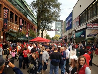 Yawkey Way before Game 2 of the ALDS Born Into It In Iowa- A Red Sox Blog: Red Sox vs Rays October 5, 2013