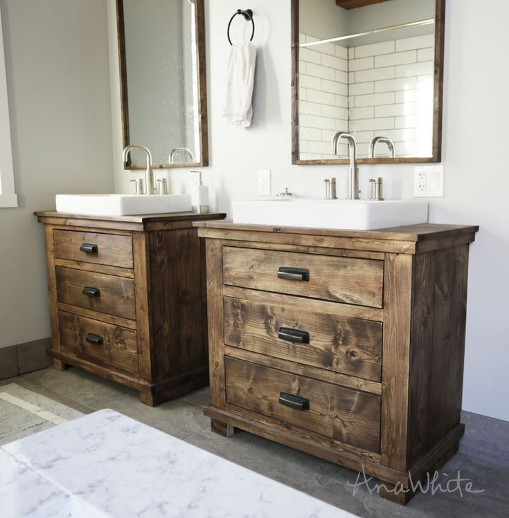 rustic bathroom vanity building plans from