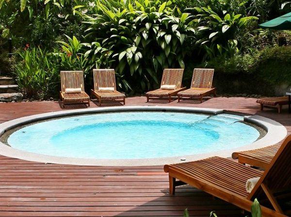 petite piscine hors sol, design rond
