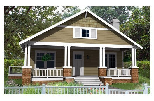One of our most efficient bungalow home plans classic for Small bungalow elevation