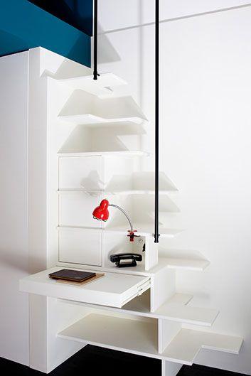 Estelle Griffe designed this 10 m2 mini apartment in rue Broca, Paris