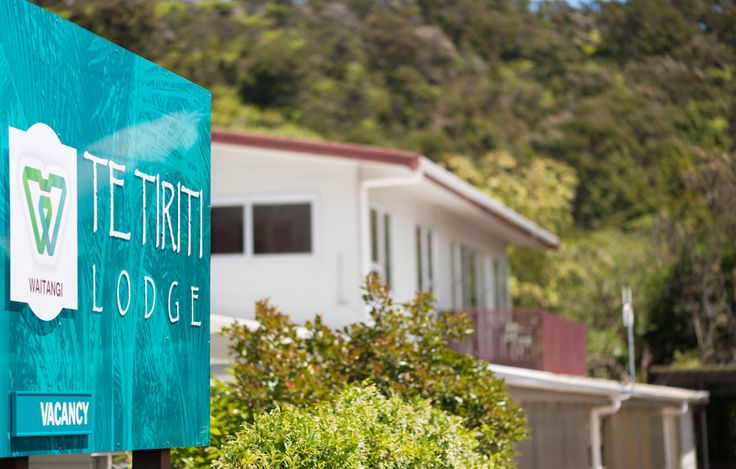 Te Tiriti Lodge from Puketona Road frontage. Plenty of parking during a stay.