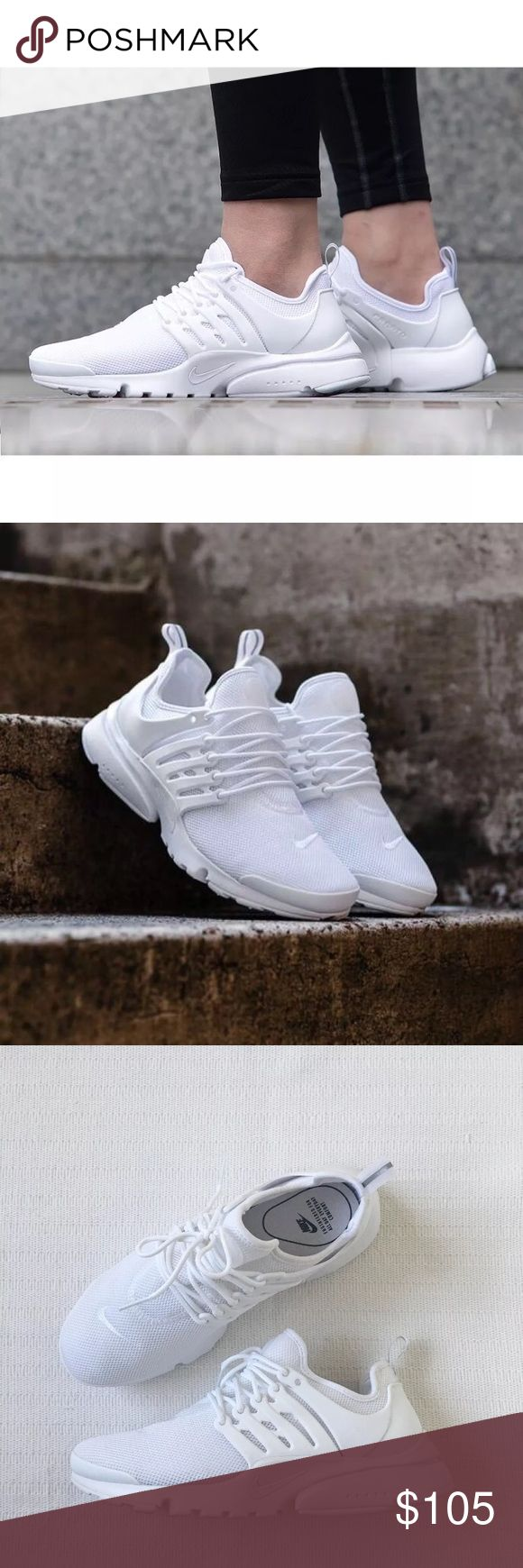 Women's Nike Air Presto Ultra BR Running Shoes Women's Nike Air Presto Ultra BR Running Shoes are lightweight and ultra fast, you'll fly free in these innovative sneakers. Style/Color: 896277-100  • Women's size 7.5  • NEW in box (no lid) • No trades •100% authentic Nike Shoes Sneakers