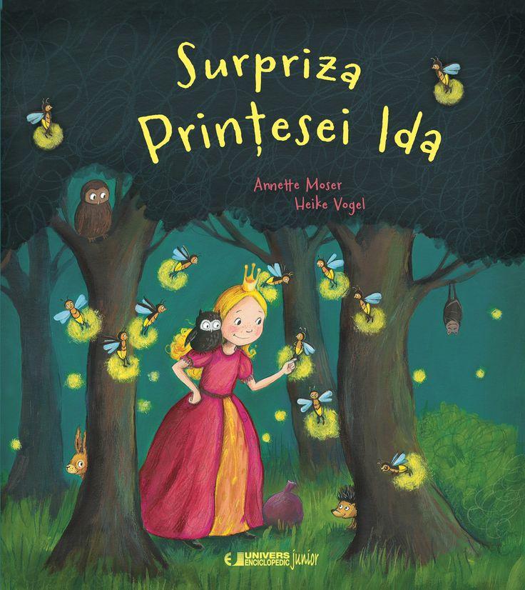 Surpriza Printesei Ida - Anette Moser, Heike Vogel - Varsta 3 -6 ani;  Printesa Ida asteapta intoarcerea parintilor sai. Ea vrea sa le ureze bun-venit si sa le faca o surpriza. Mica printesa si puiul de bufnita, pleaca in cautarea darului desavarsit. Pe drum, Ida vine in ajutorul multor prieteni, si uita ca timpul trece. In scurta vreme, se intuneca. Cum va pregati surpriza? O carte de povesti frumos ilustrata, care ne invata despre prietenie si frumusetea de a darui.