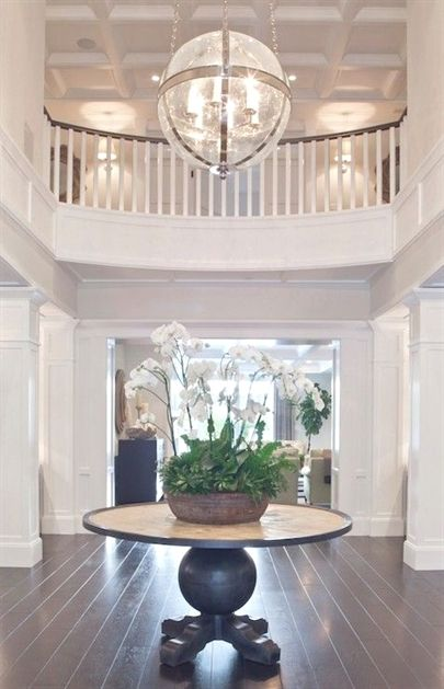 Two Story Foyer Shelf Ideas This Two Story Foyer Is Simply Elegant