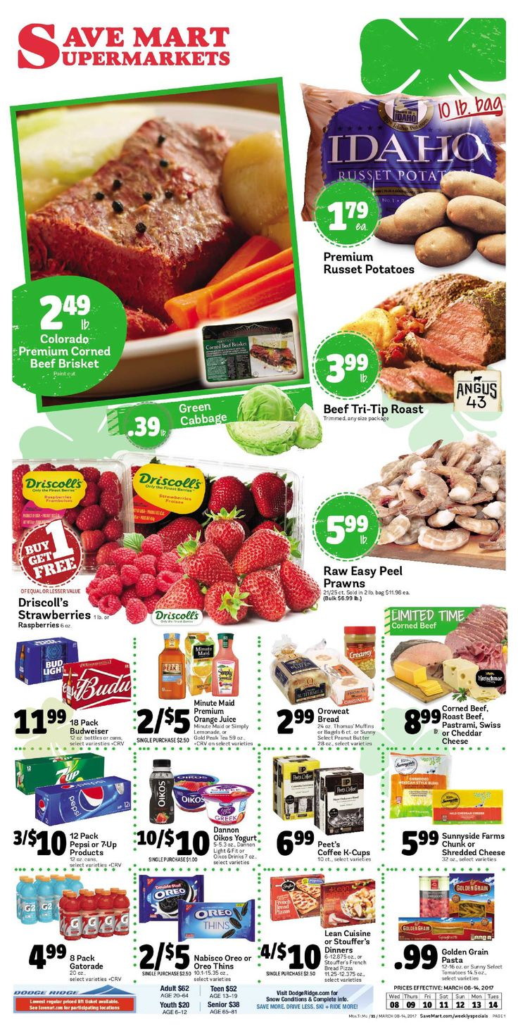 Save Mart Weekly ad March 8 - 14, 2017 - http://www.olcatalog.com/save-mart/save-mart-weekly-ad.html