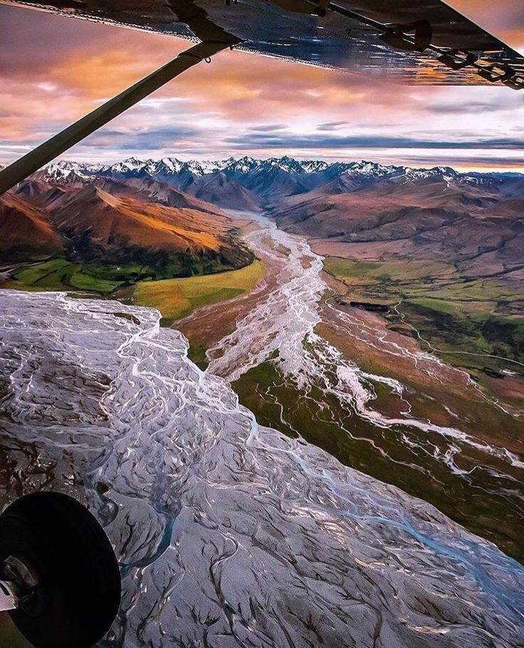 """Canterbury NZ (@christchurchnz) on Instagram: """"Have you ever seen anything quite so beautiful! Our incredible Southern Alps and braided rivers #newzealand"""
