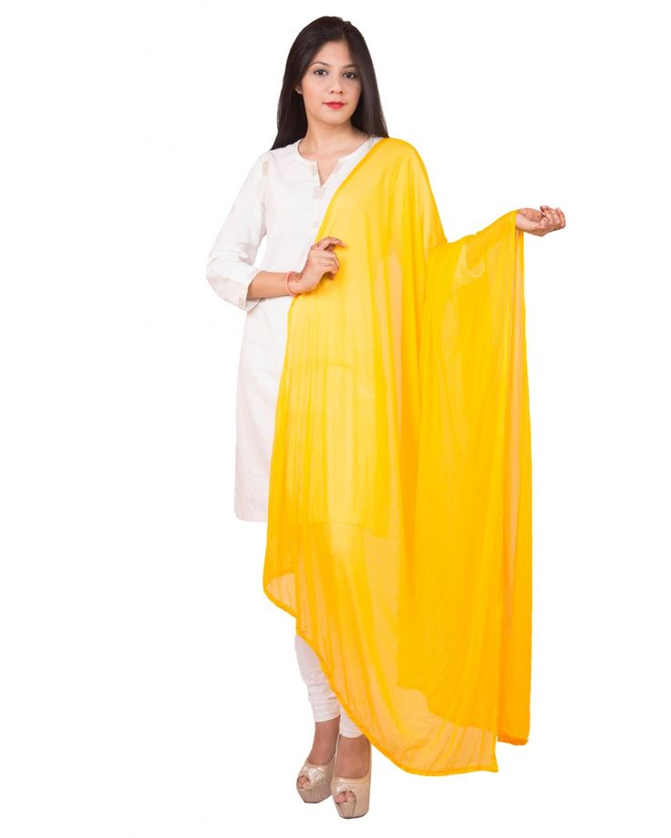 Yellow Color  Soft Chiffon Dupatta
