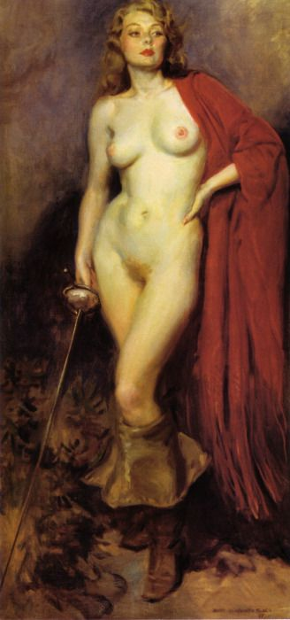 James Montgomery Flagg - The Fencer 1938: Montgomery Flag, Figures Art, Art Paintings, James Montgomery, Artists Nude, Flagg 1877 1960, James D'Arcy, Fine Art, Erotic Art