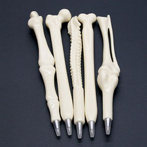 """A great alternative to candy this Halloween or for Halloween party favor or the doctor in your life. Each pen measures approximately 6"""" in length and is designed to simulate skeletal bones. Set of 5."""