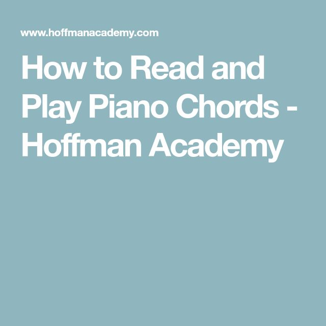 Best Piano Chords Images On   Music Ed Music