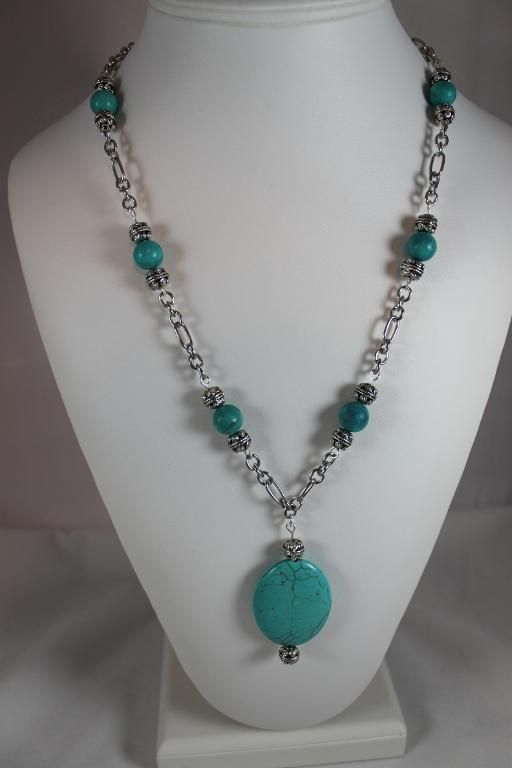Looking for jewelry project inspiration? Check out Turquoise pendant necklace by member KJewelry 120859.