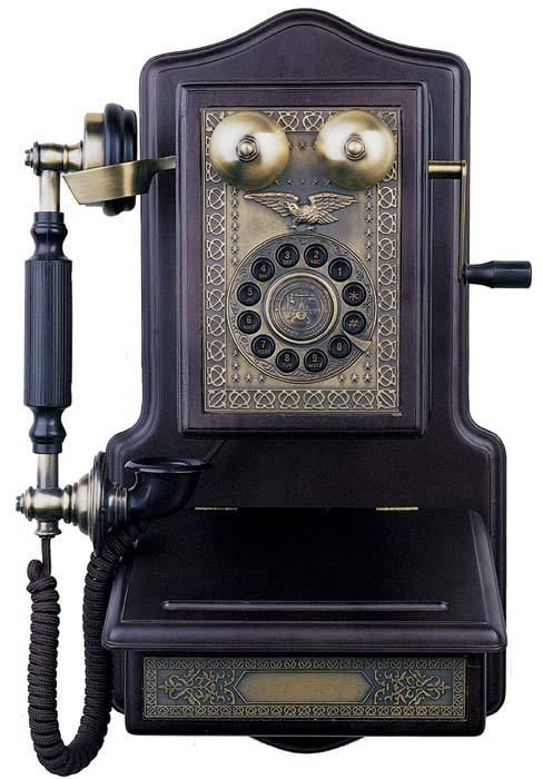 Wooden Wall Telephone by Victorian Trading Company.  Click for Item Listing.