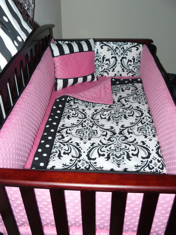 25 Best Crib Bedding Sets Images On Baby Room Nursery Image Info Pink And Black