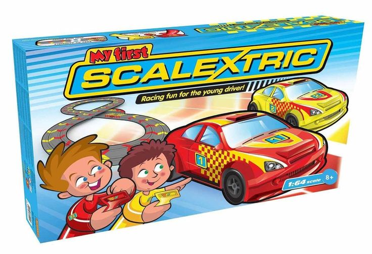 My First Scalextric 1:64 Micro Scalextric Slot Car Race Set G1119T #Scalextric