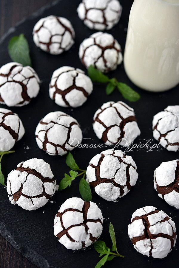 Śnieżno- czekoladowe ciasteczka
