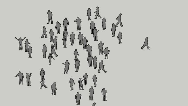 Face-Me people in 50% opacity Black - 3D Warehouse