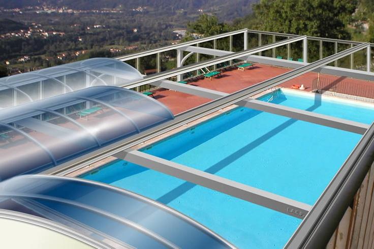 8 best residential retractable swimming pool enclosures. Black Bedroom Furniture Sets. Home Design Ideas
