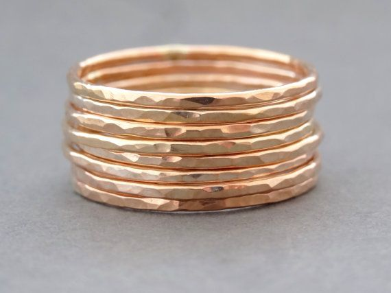 Rose Gold Ring super slim stackable ring gifts for by bluebirdss