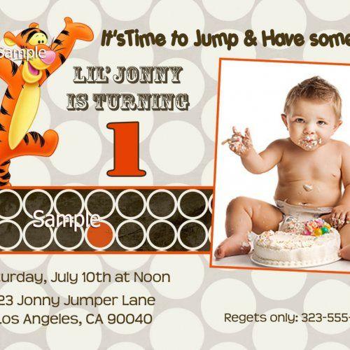 Tigger Birthday Party Invitations - Digital - U Print | ThePartysOn - Digital Art  on ArtFire
