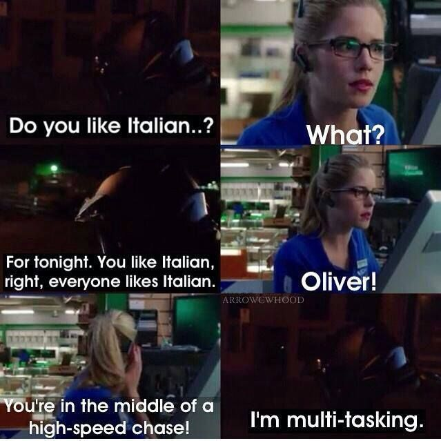 Oliver & Felicity #Olicity #Arrow #TheCalm Oh it shows how much he cares about her and is nervous... So cute!!