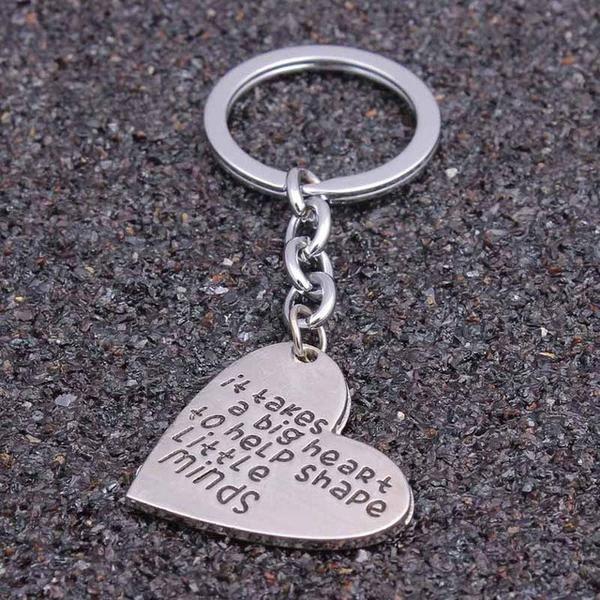Teacher Gifts Silver Keychain