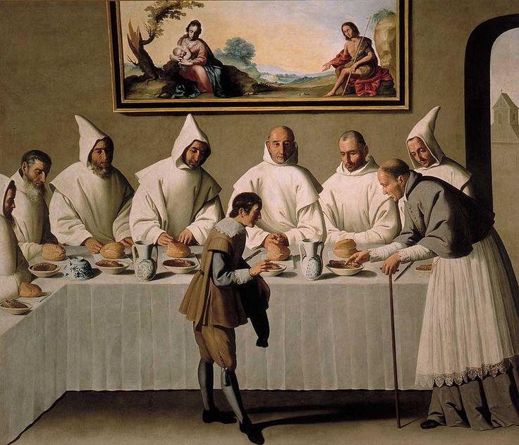 San Hugo en el Refectorio - Francisco de Zurbarán - Wikipedia, la enciclopedia libre