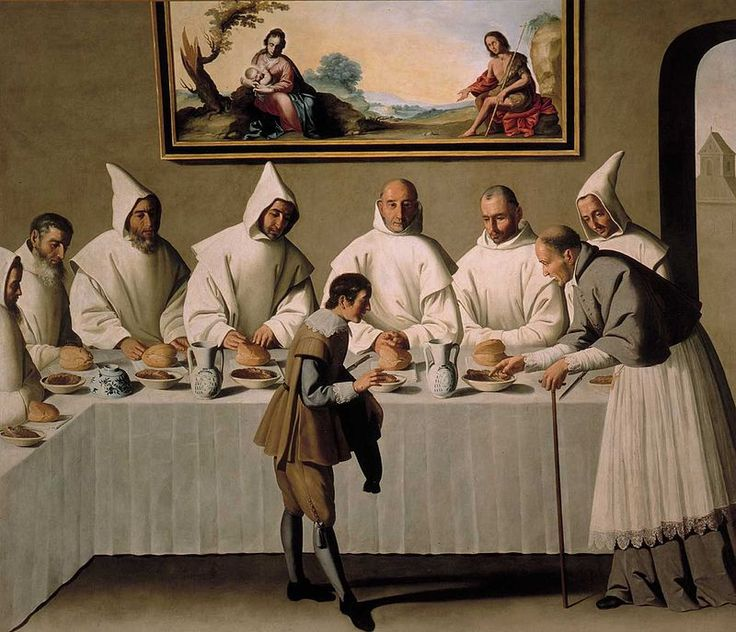San Hugo en el Refectorio - Francisco de Zurbarán - Wikipedia, la enciclopedia libre