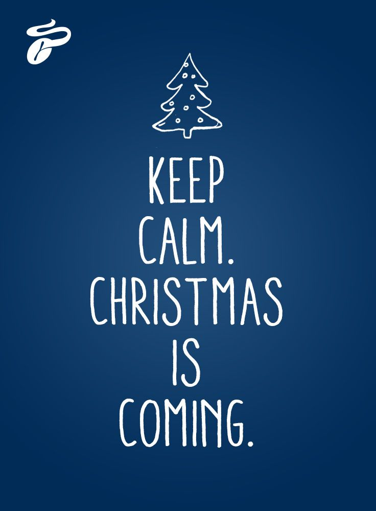"""""""Keep calm. Christmas is coming."""" Immer die Ruhe bewahren und gemütlich bei Tchibo online shoppen."""