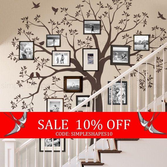 Verkauf Treppe Familie Baum Aufkleber Baum Wand von SimpleShapes