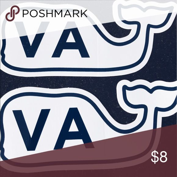🔴SALE🔴Two Virginia Vineyard Vines stickers♥️ these stickers are just like the original stickers but have the abbreviation of Virginia! i got these in Virginia too! Vineyard Vines Other