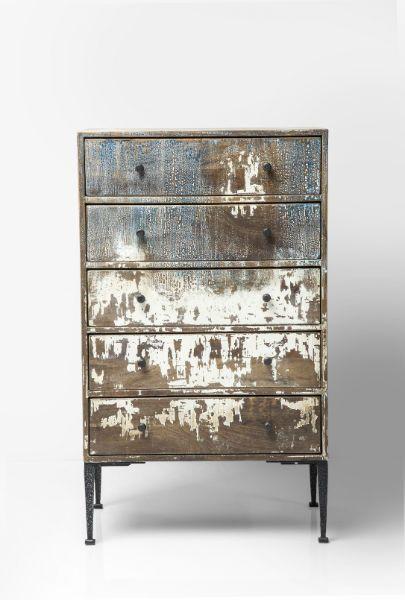 Συρταριέρα Waterfront 5-Συρτάρια Μία υπέροχη συρταριέρα σε vintage και industrial στυλ! Υλικά: λακαριστή επιφάνεια από κόντρα πλακέ και πόδια από ατσάλι με ηλεκτροστατική βαφή σε μαύρο χρώμα