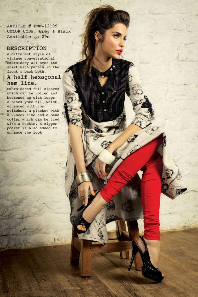 Pakistani Women Fashion 2013!!  Designer Label: Ethnic Wear.