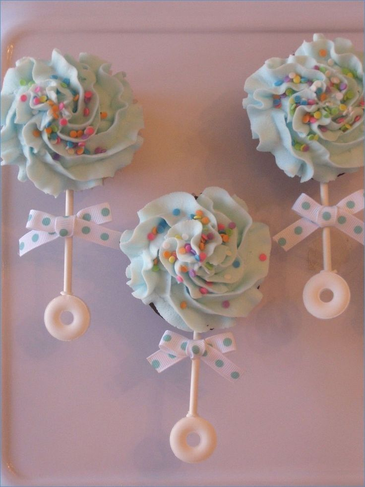 Baby Shower Cupcakes That Are Too Cute To Eat Baby Rattle