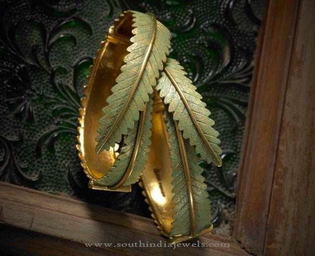 22k Gold Designer Bangles, Gold Broad Bangles, Gold Bangles Pictures.