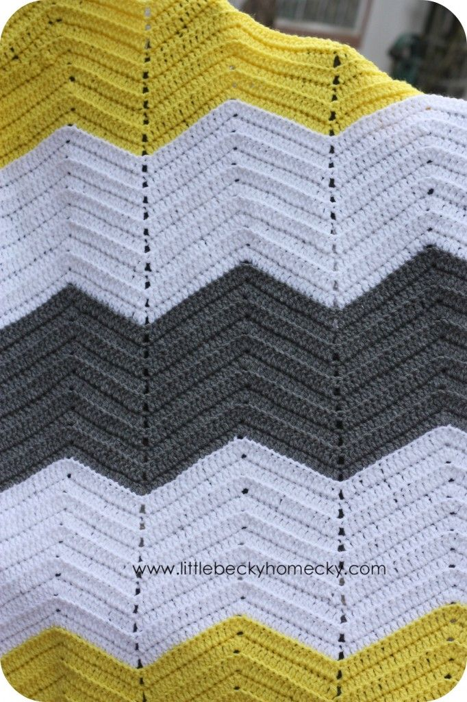 chevron afgan crochet pattern   Crochet Afghan2