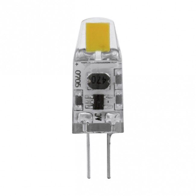 EGLO G4 LED Leuchtmittel, 1,2W, 2er VE, 100lm, 2700K, dimmbar