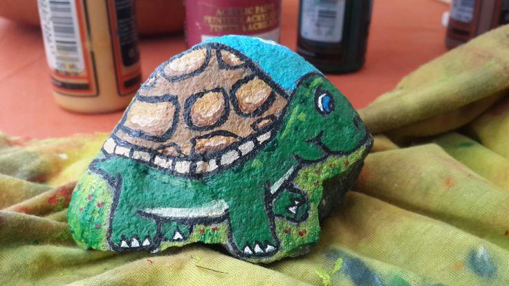 Kaplumbağa - Taş boyama