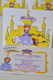 handmade_invitations disney_princess sofia_the_first birthday  invitaciones convites