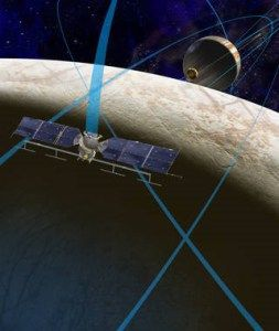Artist rendering of future NASA mission to Europa