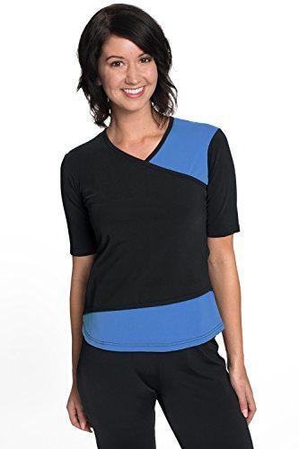 7beff72e81 HydroChic Women¡¯s Wrap Swim Shirt ¨C Modest Chlorine Proof Bathing Suit Top