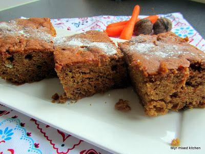 Wortelcake met speculaaskruiden en walnoten